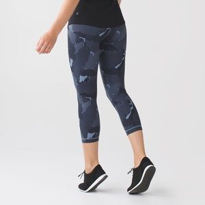 Lululemon | Wunder Under Crop II Palm Party